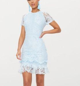 Baby blue frill dress